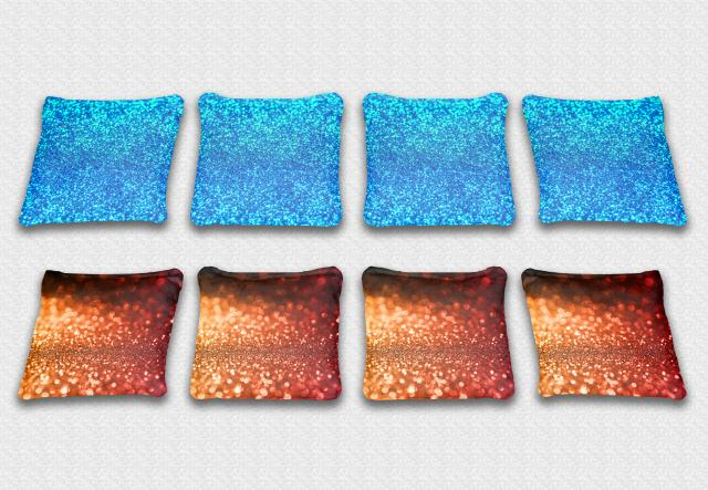 Glitter Themed premium specialty custom cornhole bags made right here in the USA!