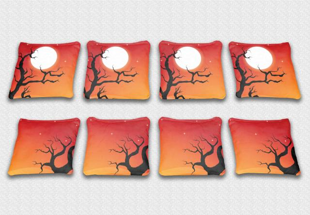 Spooky Halloween Themed premium specialty custom cornhole bags made right here in the USA!
