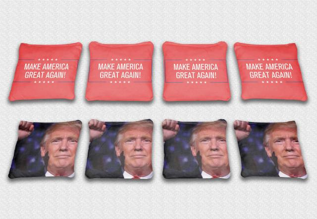 Trump Themed premium specialty custom cornhole bags made right here in the USA!