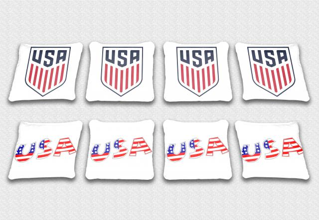 USA Themed premium specialty custom cornhole bags made right here in the USA!