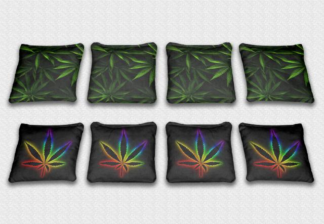 Weed Themed premium specialty custom cornhole bags made right here in the USA!