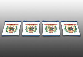 Set of 4 Corn Toss Baggo Bean Bag Wyoming State Flag Specialty Custom Cornhole Bags